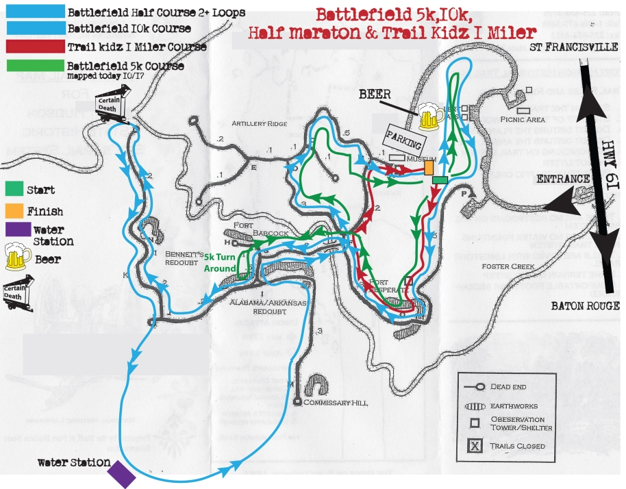 Battlefield 5k 10k Half & Trail Kidz 1 Miler Map