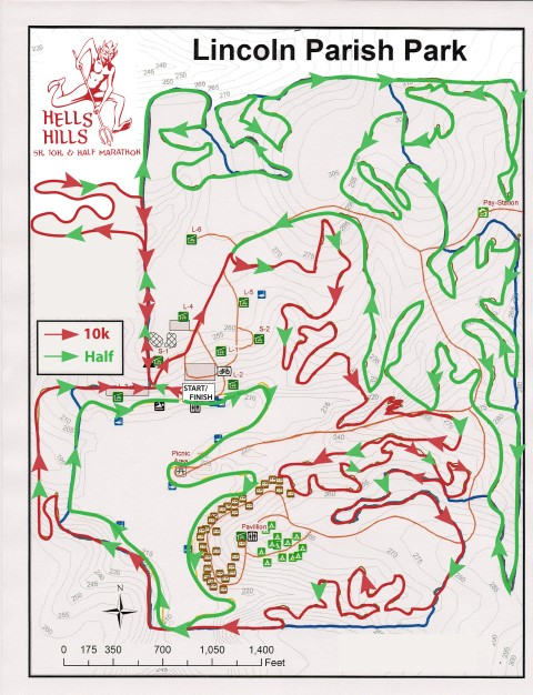 Hells Hills Course Map 1
