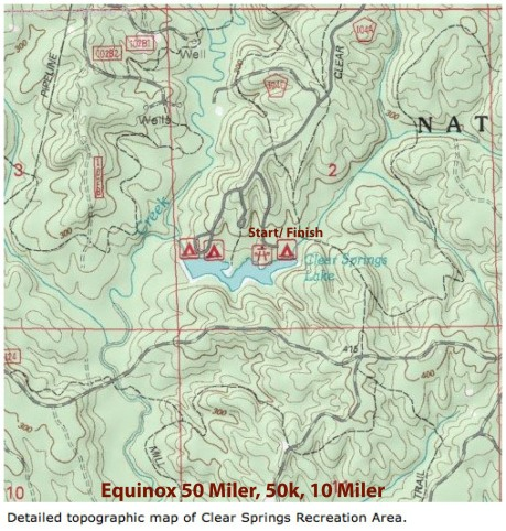 Clear Springs Equinox Topo map