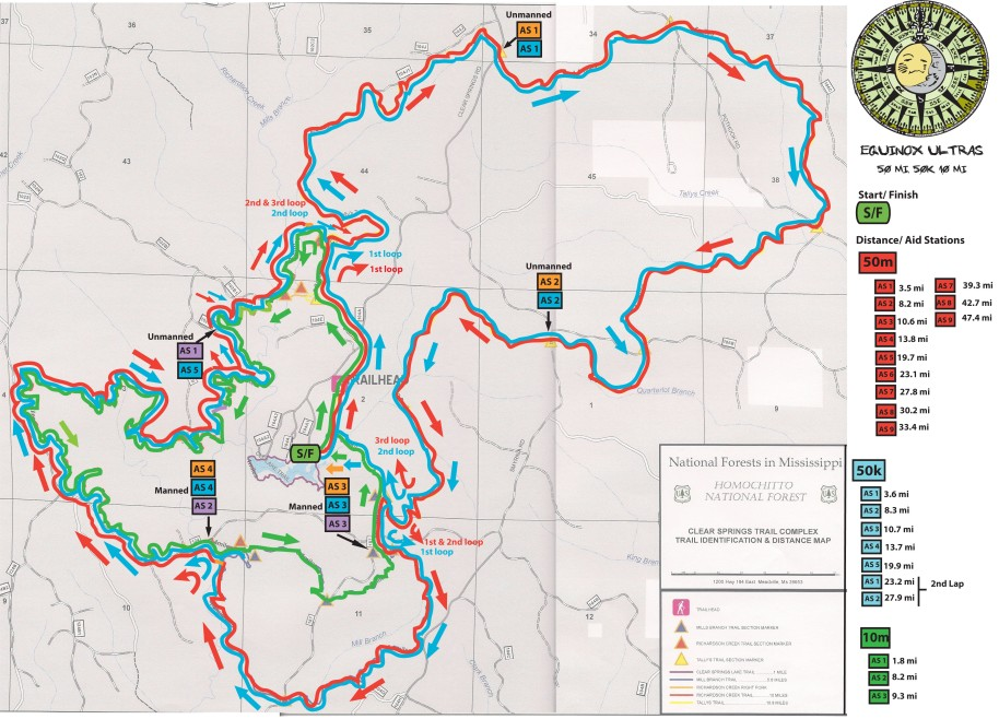 Equinox Trail Race Map