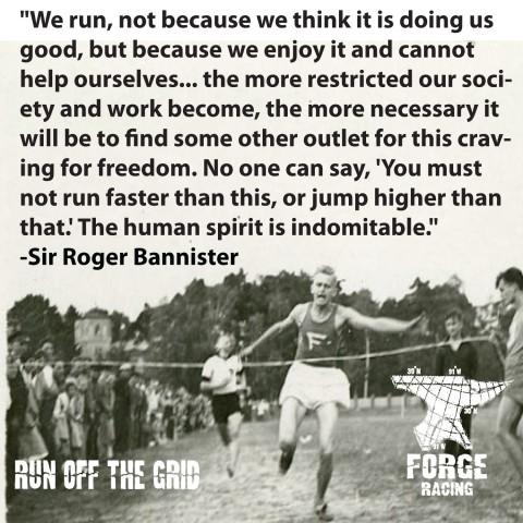 We Run Not Because...