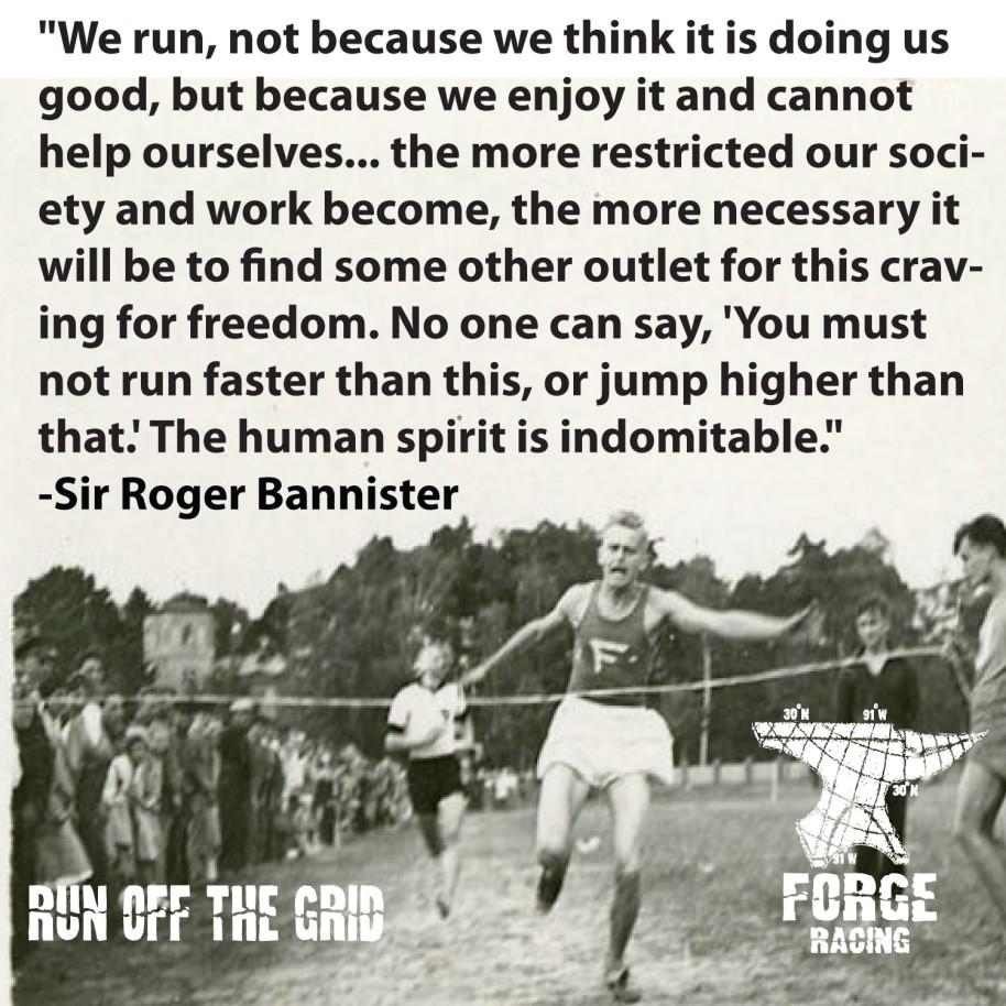 We Run Not Because...