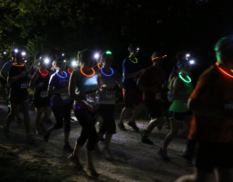 Night Trail Run, Royalty Pecan Farm, BCS Marathon Race Series