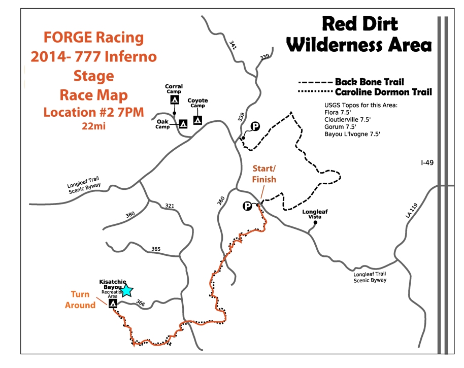 2014 777 Inferno Stage Race Location 2 Map