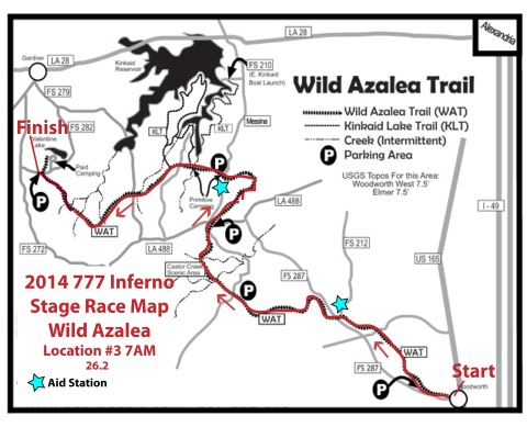 2014 777 Inferno Stage Race Location 3 Wild Azalea Map
