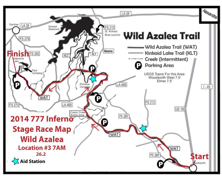 2014 777 Inferno Stage Race Location 3 Wild Azalea Map