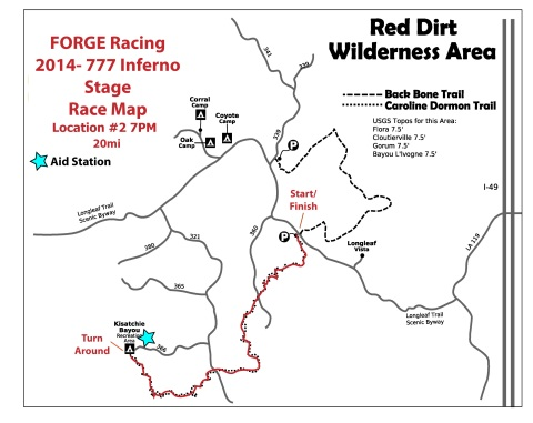 2014 777 Inferno Stage Race Map
