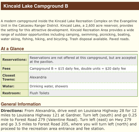 Kincaid Lake Camping