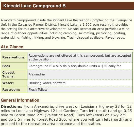 Kincaid Lake Camping